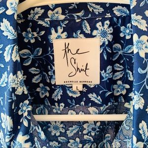 The Shirt by Rochelle Behrens Tops - The Shirt in Blue Floral
